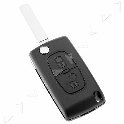 2 Button Replacement Remote Flip Key Fob Case Shell Blade For Peugeot 307 308