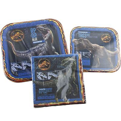 Jurassic World Dinosaurs Birthday Party Supplies 16 Plates and Napkins T-Rex