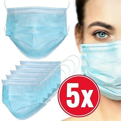 Atemschutzmaske gegen Viren und Bakterien   Mundschutz Maske 3-lagig   5er Pack