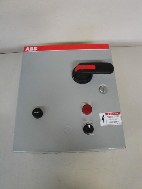 ABB A9SM1-8C1/JMB CONTROL PANEL W/ SACE S3 BREAKER, A9-30-10 CONTACTOR & TRANSFO