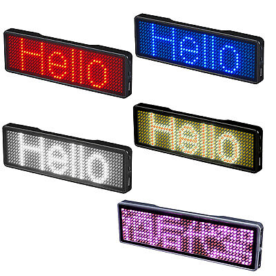 Led Self-design Programmable Scrolling Message Open Sign Tag Name Display Board
