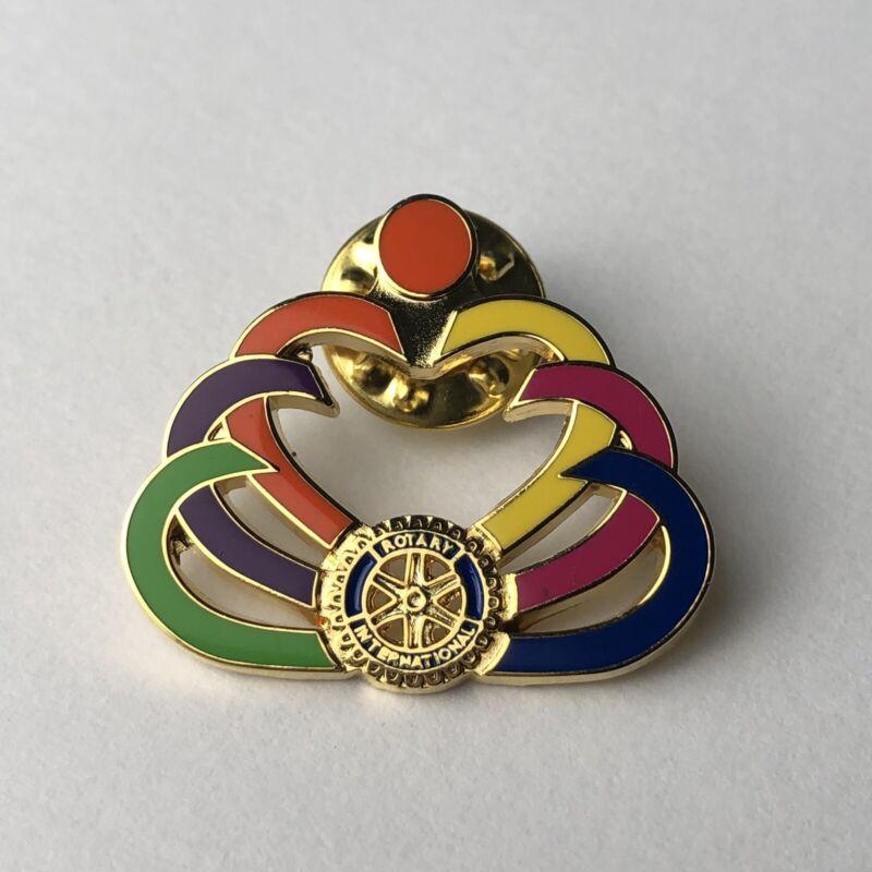 Rotary International Lapel Pin Hearts