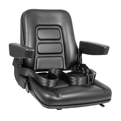 New Black Seat For Excavatorforkliftskid Loaderbackhoedozertelehandler