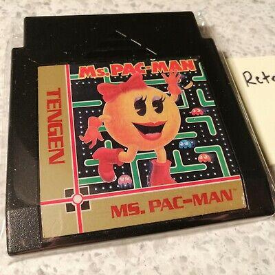 Ms. Pac-Man (Tengen) (Nintendo Entertainment System, 1990) - BLACK TENGEN CART