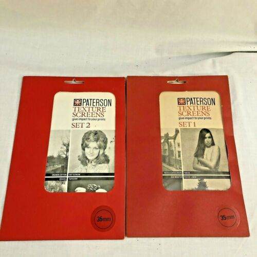 Paterson Texture Screen Set 1 & 2 for Enlarger Printing 35mm PN