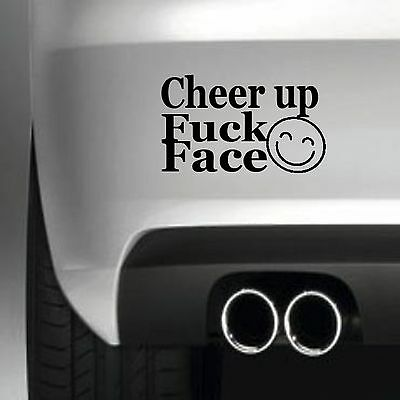 Cheer up BUMPER STICKER FUNNY CAR WINDOW  STICKER VINYL DECAL
