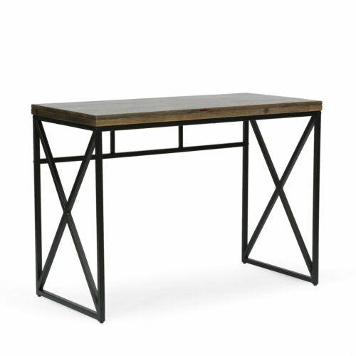 Avera Modern Industrial Handcrafted Mango Wood Desk Furniture