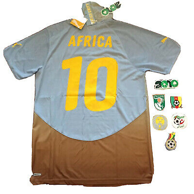 2010/11 Africa Unity Special Jersey #10 Africa Medium World Cup ETO'O DROGBA NEW image