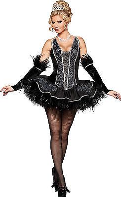 Sexy Adult Halloween InCharacter Deluxe Black Seductive Swan Ballerina Costume