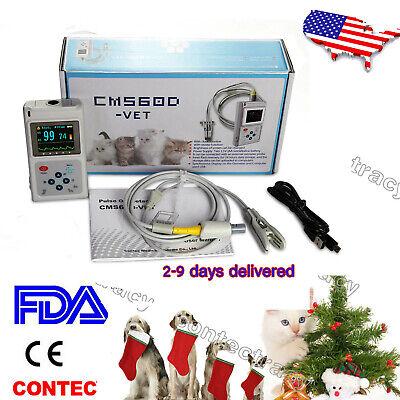 Us Seller Cms60d Veterinary Pulse Oximeter Spo2 Pr Monitor Vet Probe Probepc Sw
