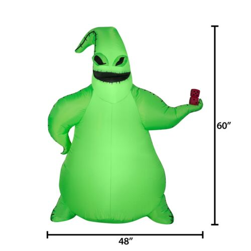 Nightmare Before Christmas Airblown Inflatable Oogie Boogie LED 5ft IN HAND