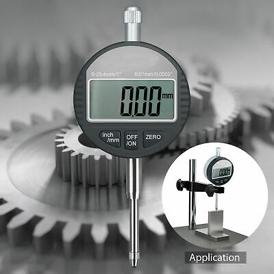 New Range 25.4mm1 Digital Dial Test Indicator Probe Gauge 0.01mm0.0005 Kit