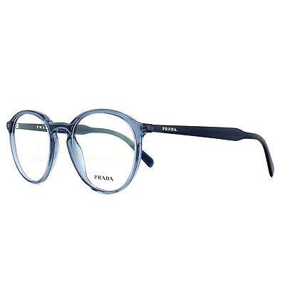 Prada Brillengestell PR13TV VAV1O1 Transparent Blau 49mm Herren
