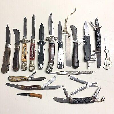 17 Vintage Pocket Knives SCHRADE Western IXL WOSTENHOLM Boker REMINGTON Kershaw