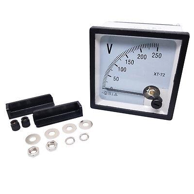 Us Stock Ac 0250v Square Analog Volt Pointer Needle Panel Meter Voltmeter Xt-72