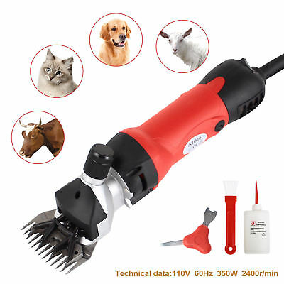 350w Sheep Goat Shears Clippers Electric Animal Shave Grooming Farm Supplies Red
