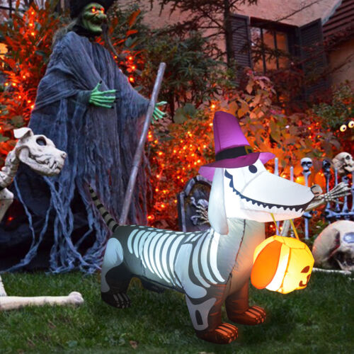 GOOSH 6FT Halloween Inflatable Outdoor Zombie Dog Blow Up Yard Decoration
