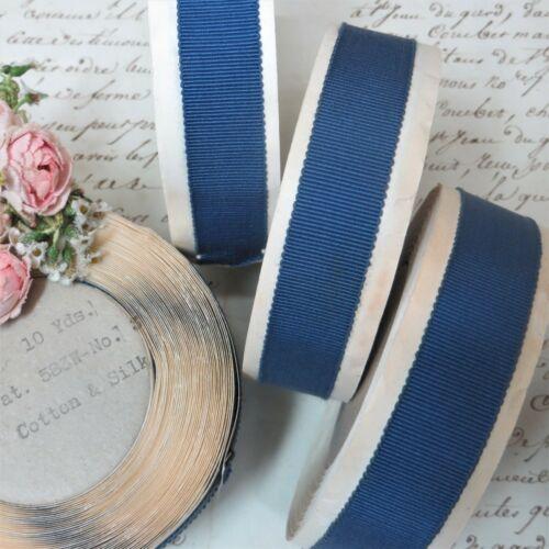 10y French Blue SILK GROSGRAIN PETERSHAM Hat Banding Ribbon Millinery Flower