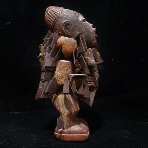 Antique  Nail Fetish Figure Nkondi Kongo