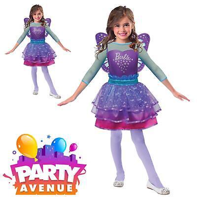 Barbie Rainbow Fairy Dress Up Kids Fancy Dress Costume  ()