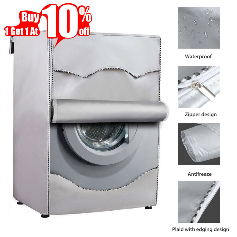 Washing Machine Cover Waterproof Washer Cover Fit For Front Load Washer/ Dryer