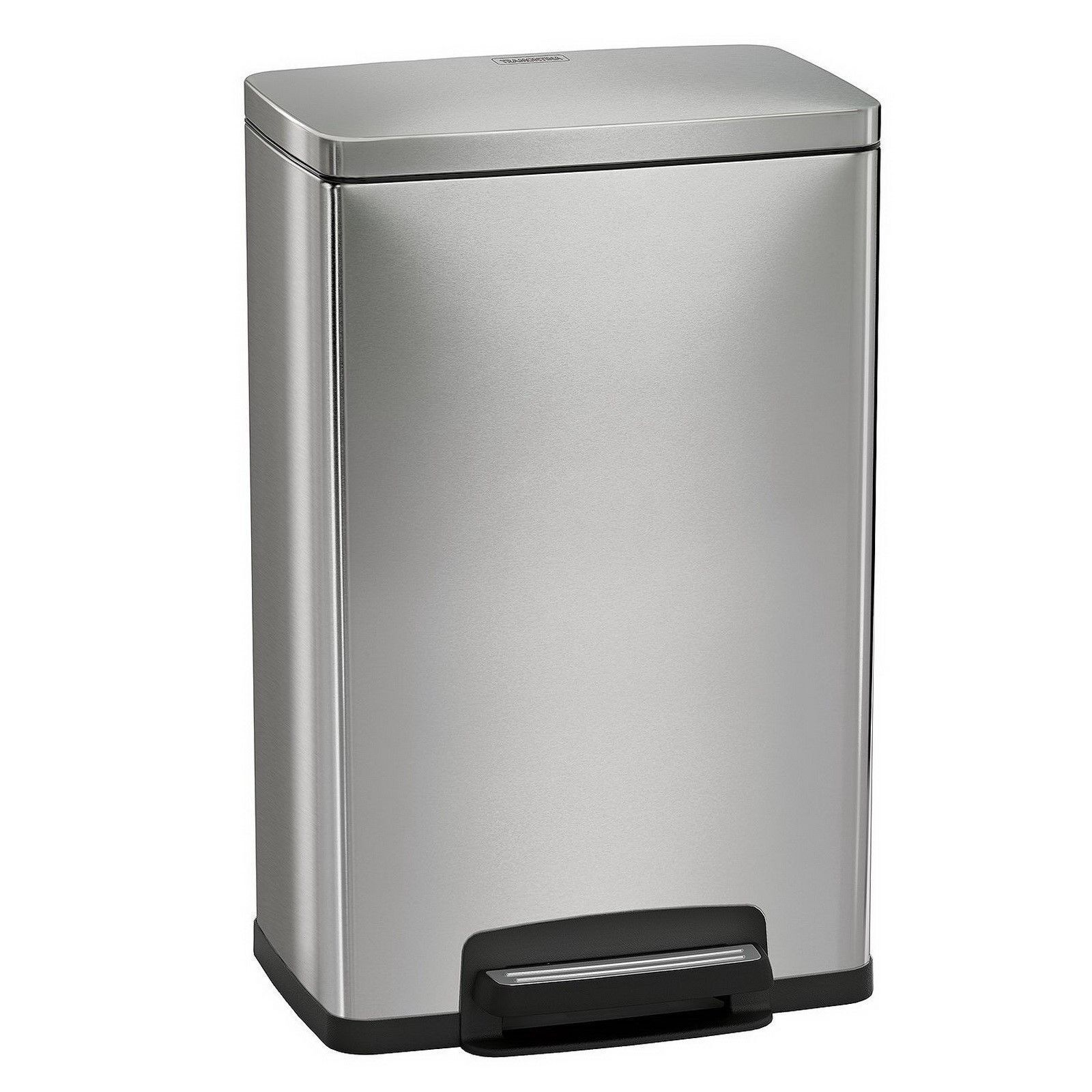 Tramontina 13 Gallon Step Trash Can Stainless Steel Includes 2 ...