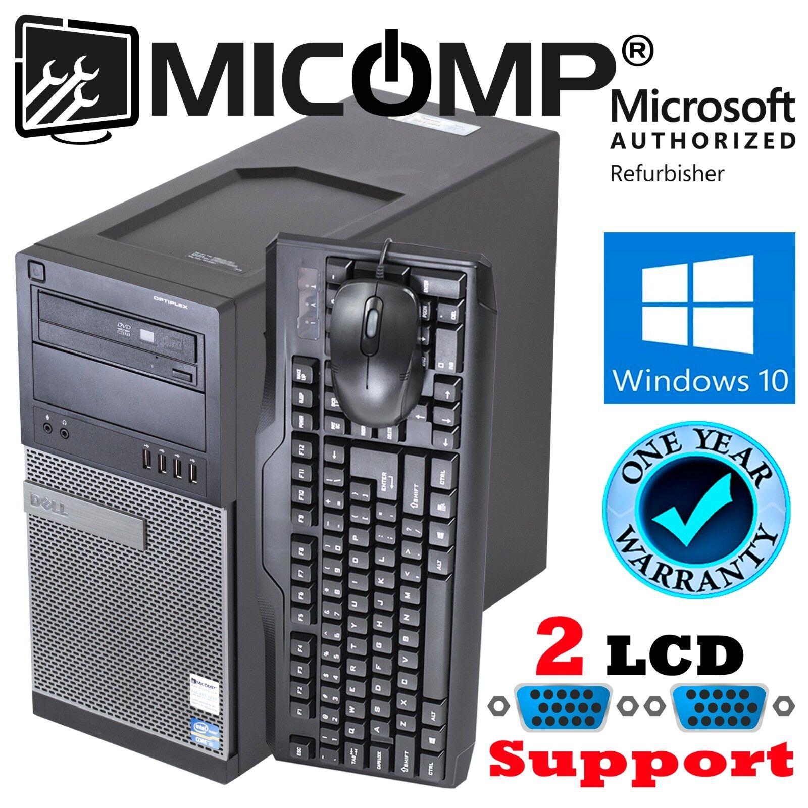 Fast Intel i7 Dell Desktop Computer PC Windows 10 Pro 3.4Ghz 16GB New 250GB SSD