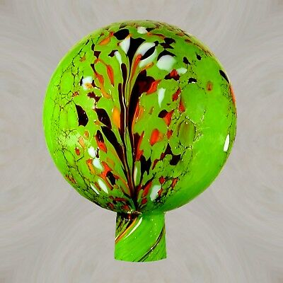 Rosenkugel, Gartenkugel aus Glas 12 /15 cm Ø Sattgrün