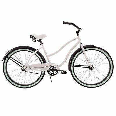 Womens Cruiser Bike 26 Inch Girls White Beach Bicycle Retro