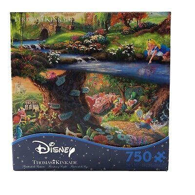 Thomas Kinkade Disney jigsaw puzzle Alice In Wonderland 750 Pcs New, Sealed!