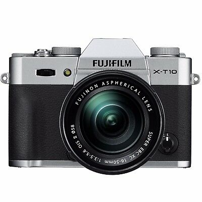 Fujifilm X-T10 Mirrorless 16.3MP Digital Camera + 16-50mm Lens II (Silver)