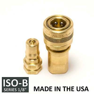 1 Set 18 Iso-b Hydraulic Hose Quick Disconnect Couplers Brass - Iso 7241-1 B