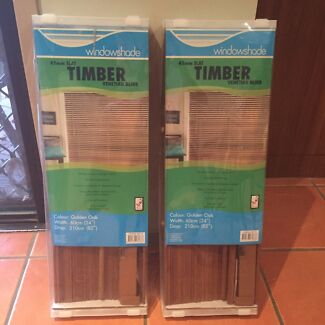 Timber Blinds new x 2  Flinders View Ipswich City Preview