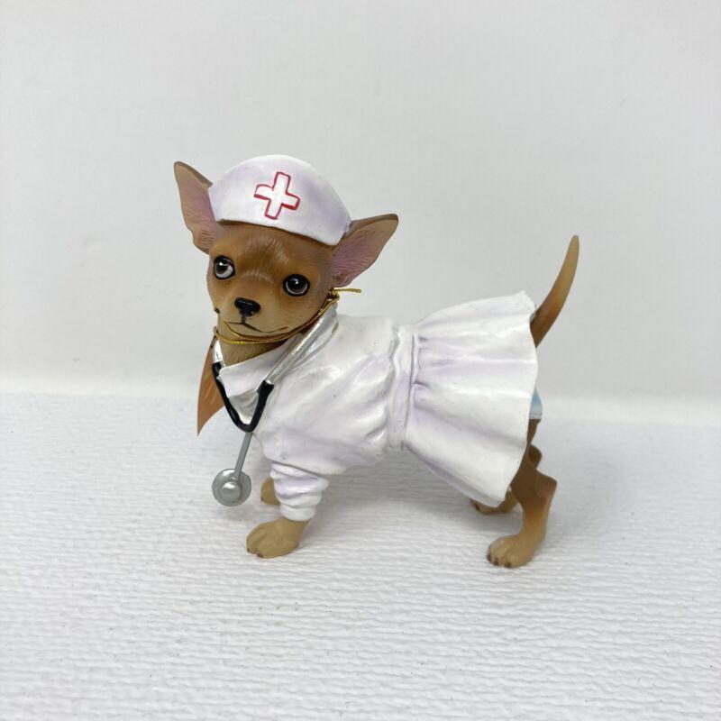 Aye Chihuahua 2010 Nurse/ Doctor Dog Figurine Statue Westland Giftware In Box!