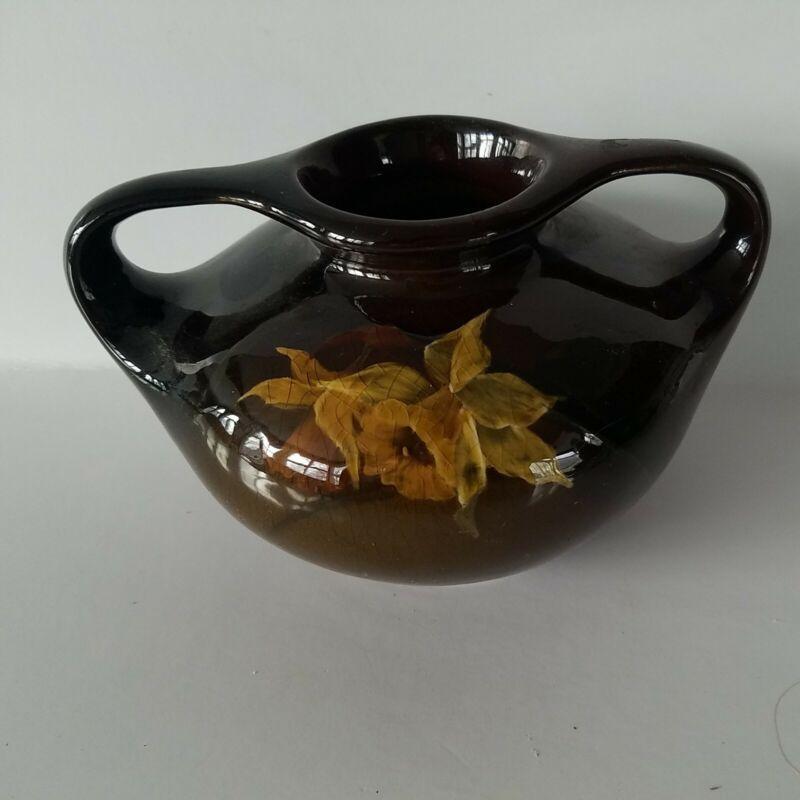 Antique JB Owens utopian 936 handled 4 inch art pottery vase