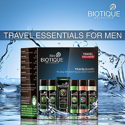 NEW BIOTIQUE TRAVEL ESSENTIALS KIT FOR MEN KEEP SKIN HEALTHY AND FRESH ALL -