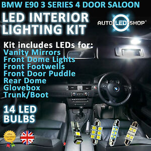 bmw e90 3 series saloon led interior upgrade complete kit set bulb xenon white ebay. Black Bedroom Furniture Sets. Home Design Ideas