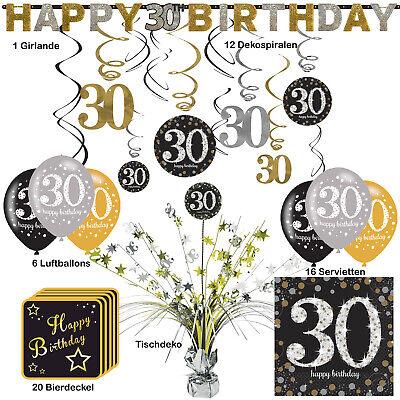30. Geburtstag Dekopaket Tischdekoration Partyzubehör Deko (30 Geburtstag Dekoration)