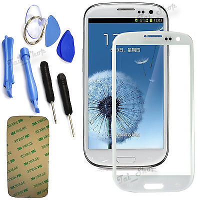 White Replacement LCD Screen Glass Lens For Samsung Galaxy S3 Mini i8190 + Tools