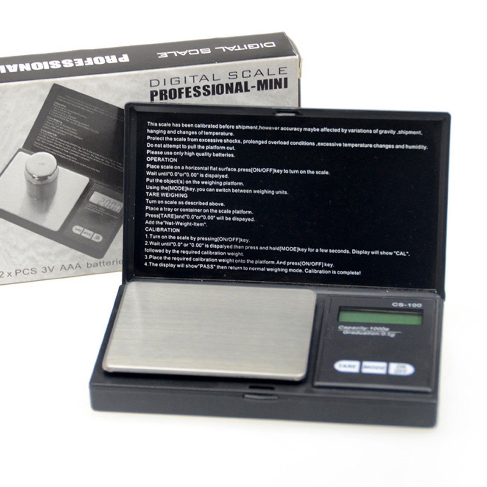 100g x 0.1g Pocket Jewelry Gold Digital Scale Silver Professional scale US Jewelry & Watches