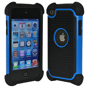 DELUXE-PROTECTOR-BLUE-HARD-SILICONE-SKIN-CASE-COVER-FOR-IPOD-TOUCH-4-4G-4TH-GEN