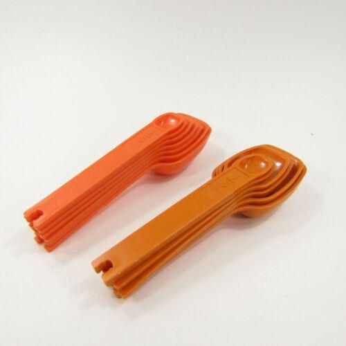 Vintage Lot of TUPPERWARE Orange Nestling Measuring Spoons No Rings