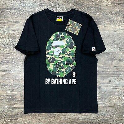 BAPE by A Bathing Ape ABC Camo Green on Black T-shirt