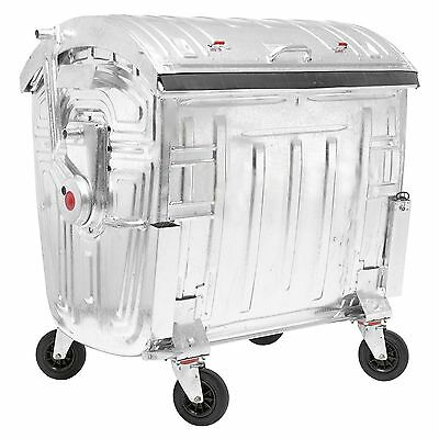 Müllgroßbehälter MGB Großmüllcontainer Abfallcontainer Tonne 1100 L verzinkt