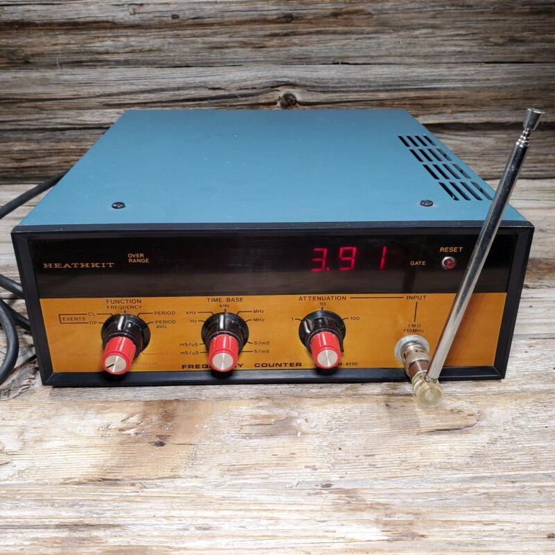 Vintage Heathkit IM-4110 Digital Frequency Counter, Tested Works
