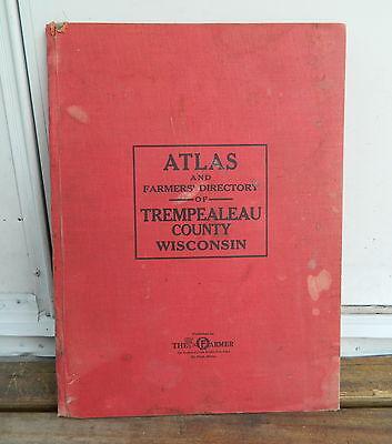 1930 TREMPEALEAU COUNTY, WISCONSIN ATLAS & FARMERS' DIRECTORY PLAT BOOK