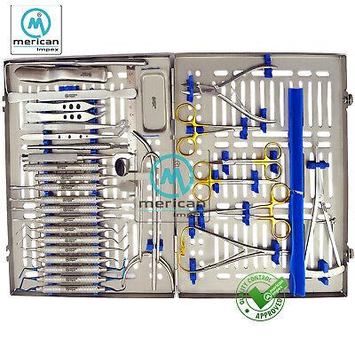 33 Pcs Advanced Dental Implant Surgery Kit Implantology Surgical Instrumenttray
