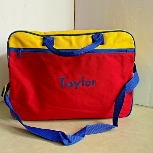 """Lillian Vernon Canvas Primary Personalized Suitcase Carryall """"Taylor"""""""