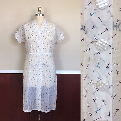 Fifties Dresses Plus Size (Vintage 1950s Plus Size Novelty Print Dress Waist 36)