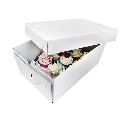 PME Sugarcraft Cupcake Box Tall White with Insert for 12 Cupcakes/Muffins